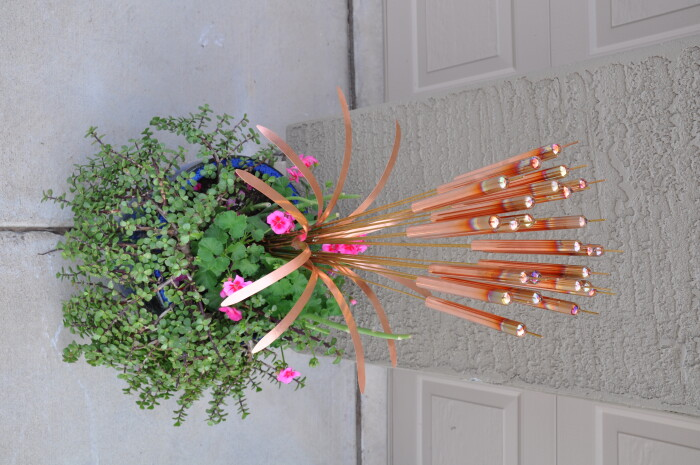 Copper Cattail Windchimes