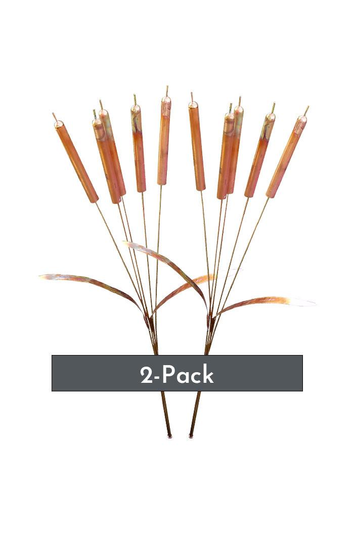 (2-Pack) Copper Cattail Windchimes